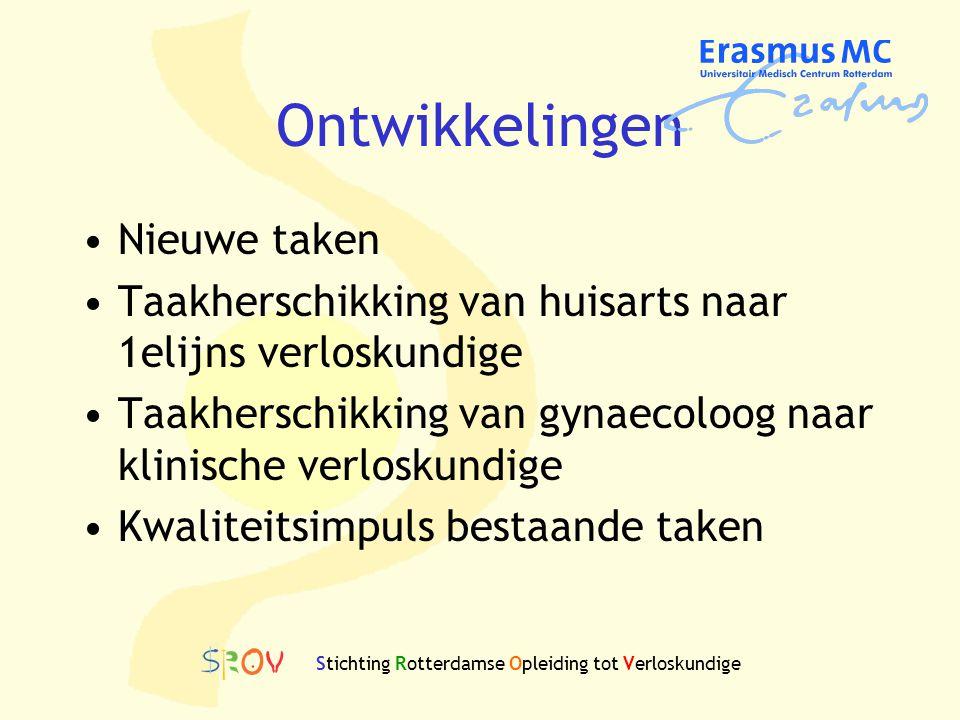 Stichting Rotterdamse Opleiding tot Verloskundige Ontwikkelingen Nieuwe taken Taakherschikking van huisarts naar 1elijns verloskundige Taakherschikkin