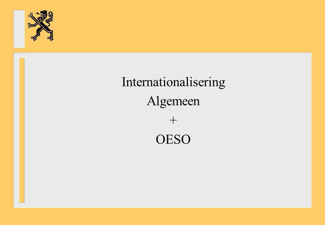 - Education at a Glance (OESO): onderwijsindicatoren over Output van onderwijsinstellingen Financiering en mankracht in onderwijs Toegang, deelname en voortgang Leeromgeving en de organisatie van scholen Zitten we goed als we ons vergelijken met andere (vergelijkbare) landen.