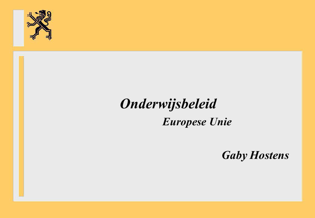 Onderwijsbeleid Europese Unie Gaby Hostens