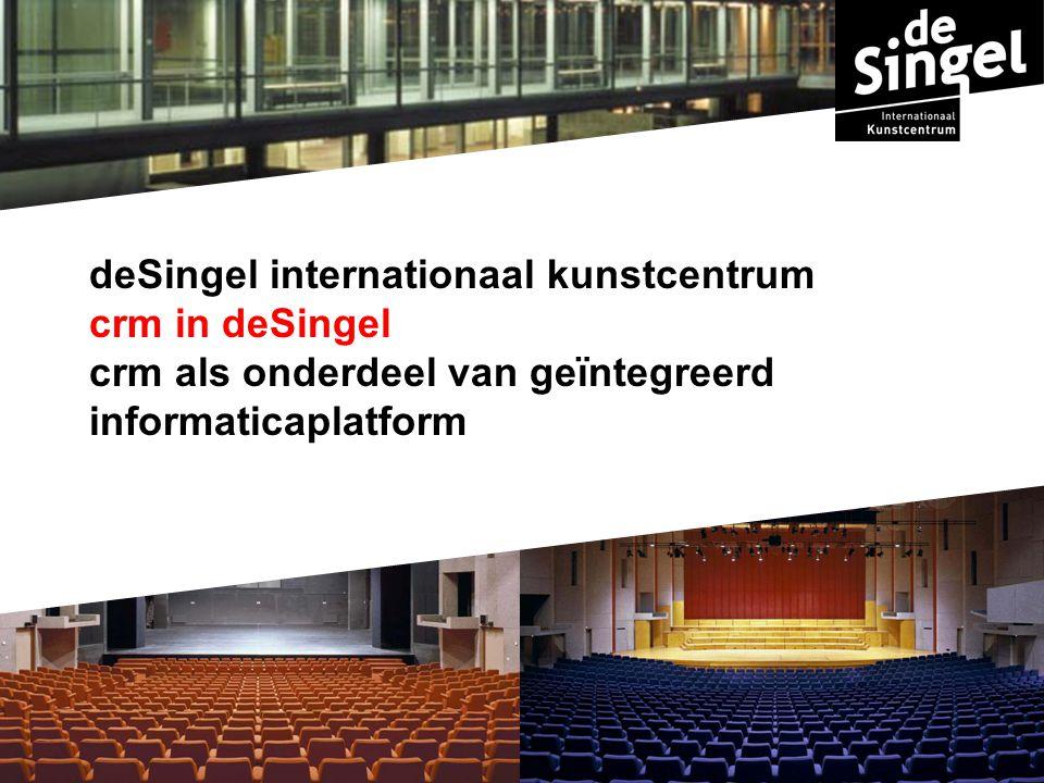 deSingel internationaal kunstcentrum crm in deSingel crm als onderdeel van geïntegreerd informaticaplatform