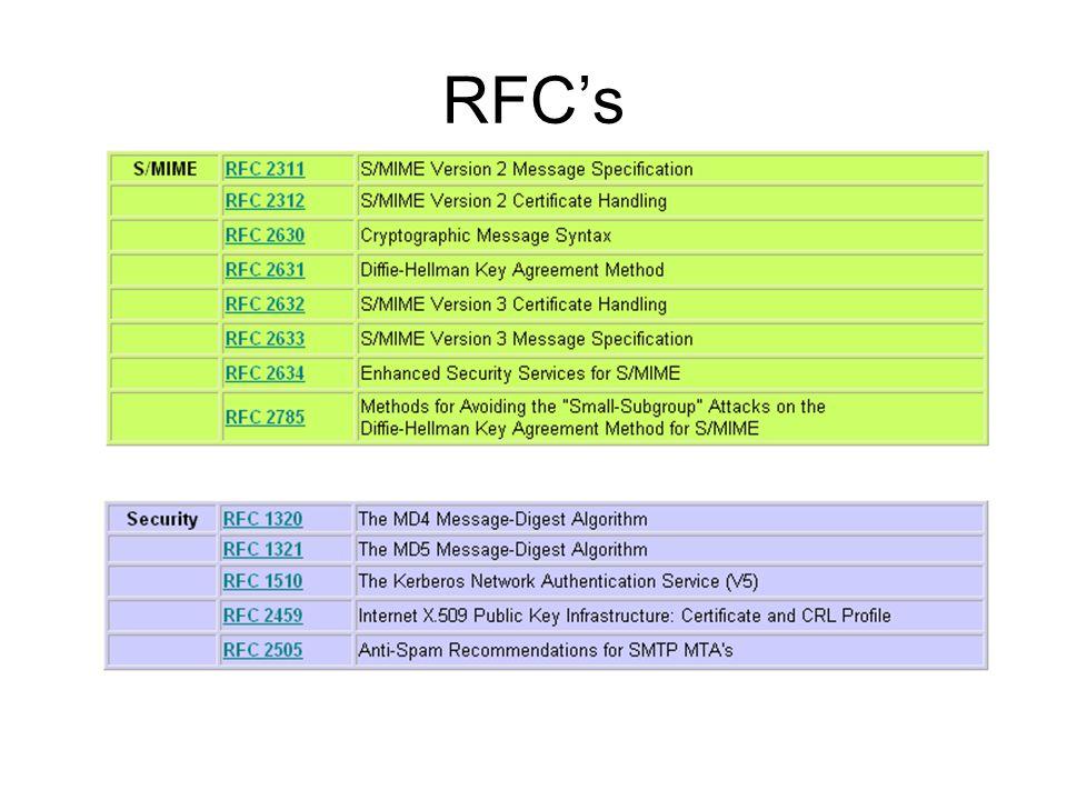 RFC's