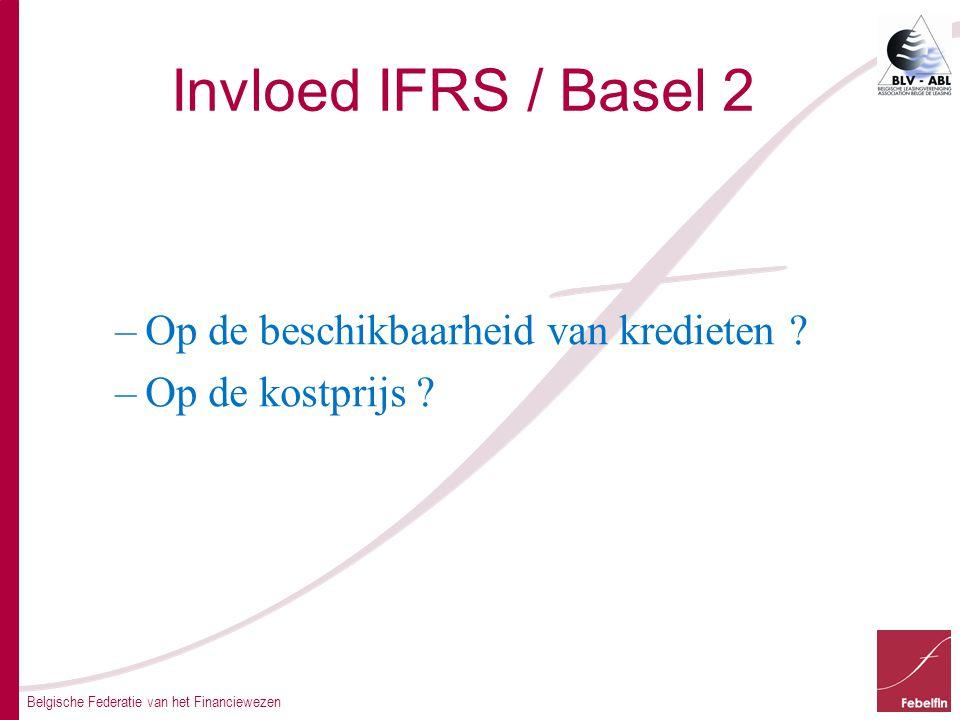 Belgische Federatie van het Financiewezen Invloed IFRS / Basel 2 –Op de beschikbaarheid van kredieten .