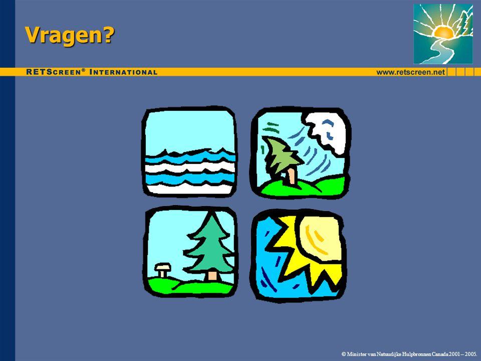 © Minister van Natuurlijke Hulpbronnen Canada 2001 – 2005. Vragen