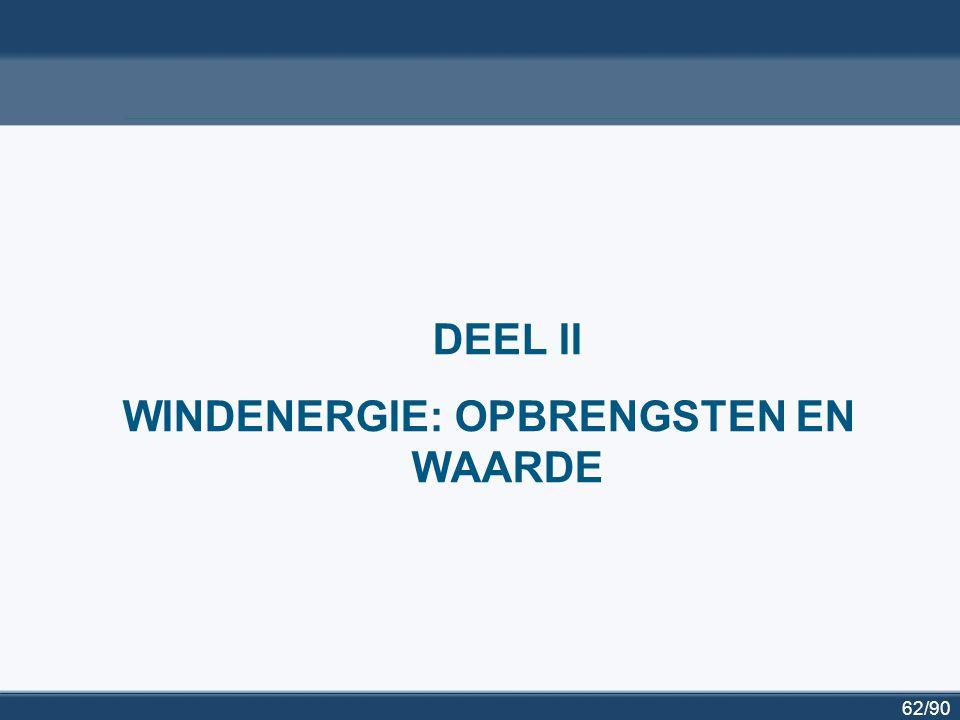 62/90 DEEL II WINDENERGIE: OPBRENGSTEN EN WAARDE