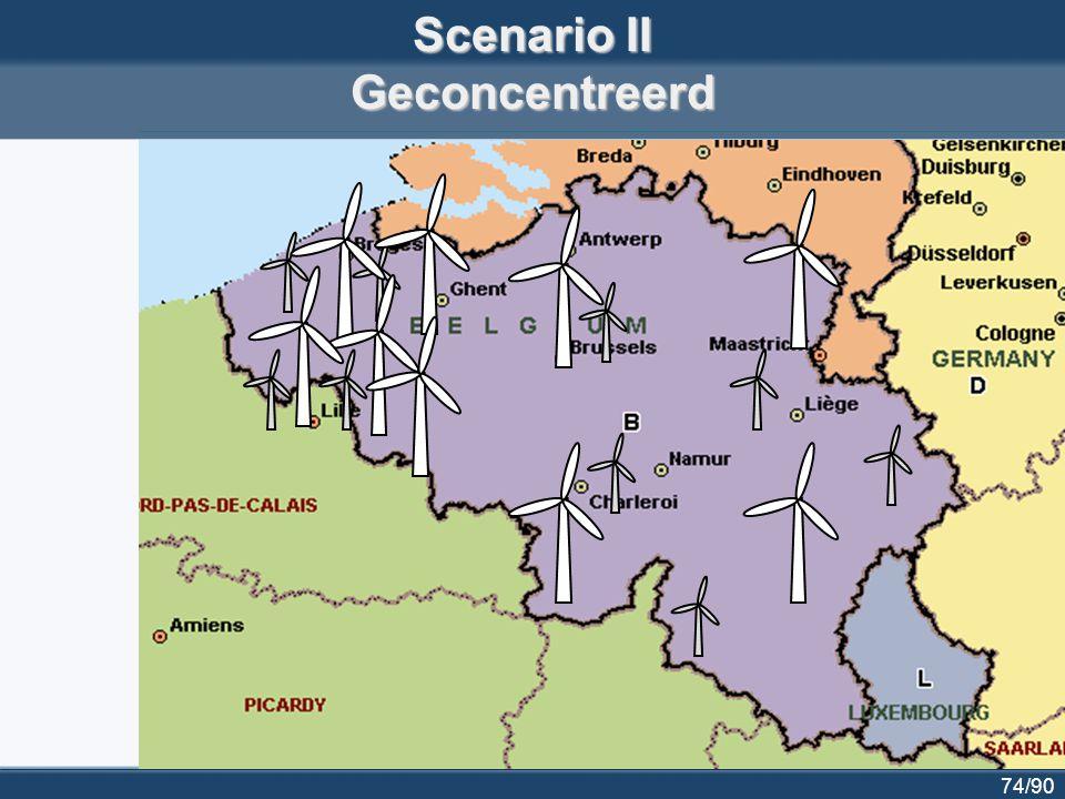 74/90 Scenario II Geconcentreerd