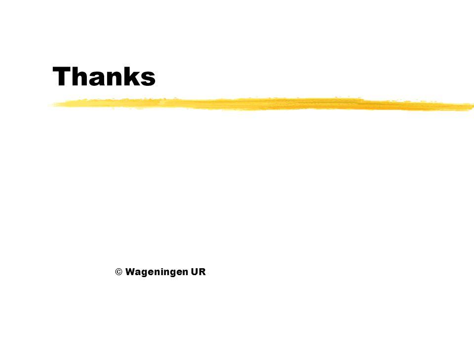 Thanks © Wageningen UR