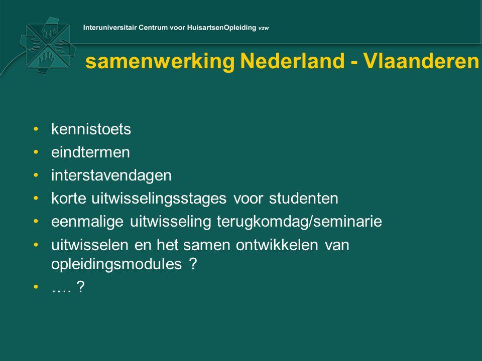 samenwerking Nederland - Vlaanderen kennistoets eindtermen interstavendagen korte uitwisselingsstages voor studenten eenmalige uitwisseling terugkomda