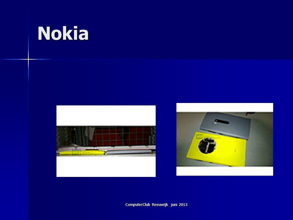 ComputerClub Reeuwijk juni 2013 Nokia