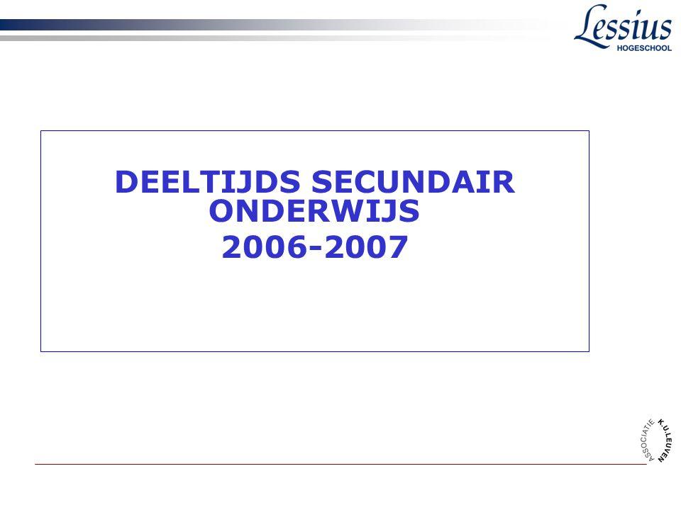 DEELTIJDS SECUNDAIR ONDERWIJS 2006-2007