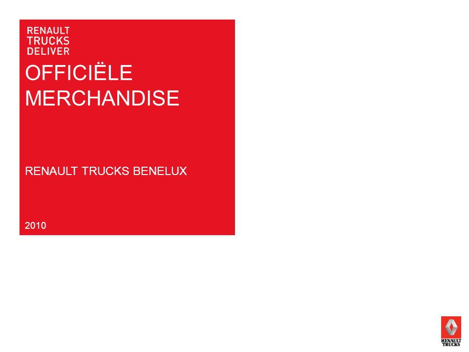 OFFICIËLE MERCHANDISE 2010 RENAULT TRUCKS BENELUX