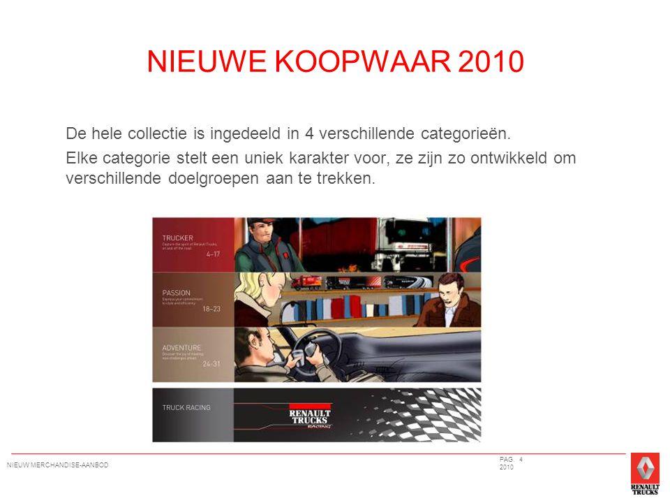 NIEUWE KOOPWAAR 2010 De hele collectie is ingedeeld in 4 verschillende categorieën.