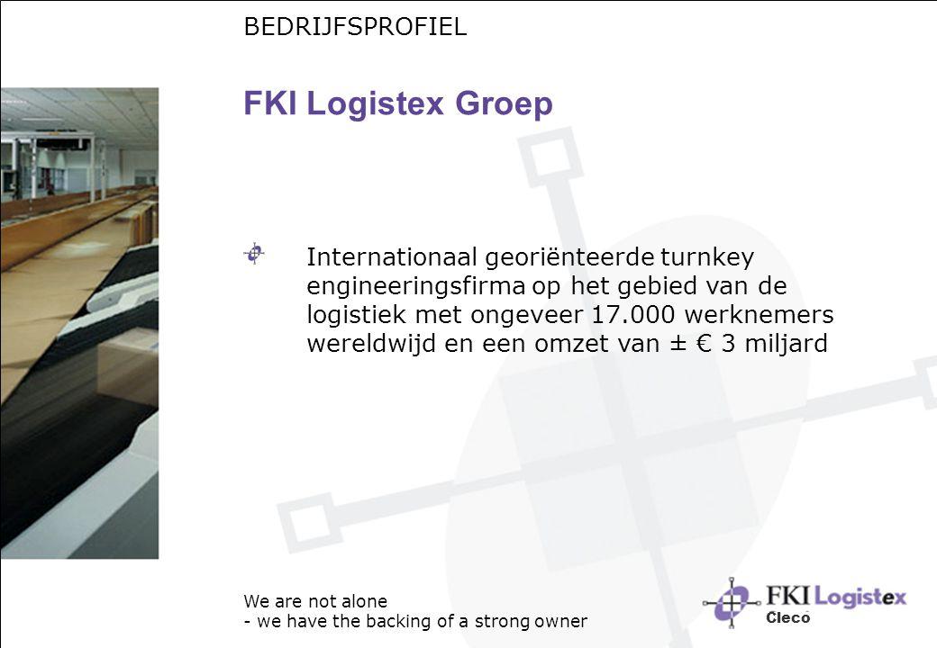 FKI Logistex Groep Internationaal georiënteerde turnkey engineeringsfirma op het gebied van de logistiek met ongeveer 17.000 werknemers wereldwijd en