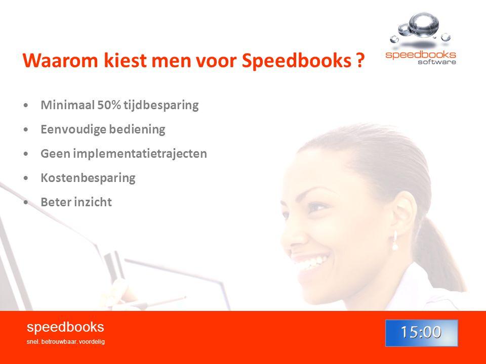 Waarom kiest men voor Speedbooks .