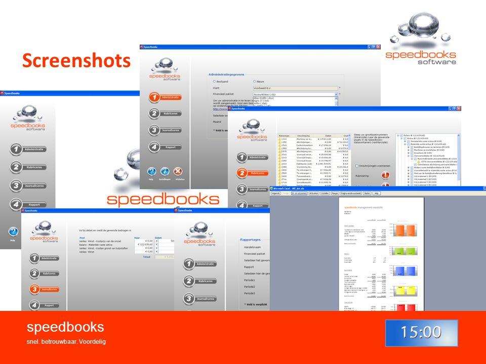 Screenshots speedbooks snel. betrouwbaar. Voordelig