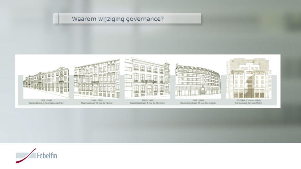 Waarom wijziging governance?