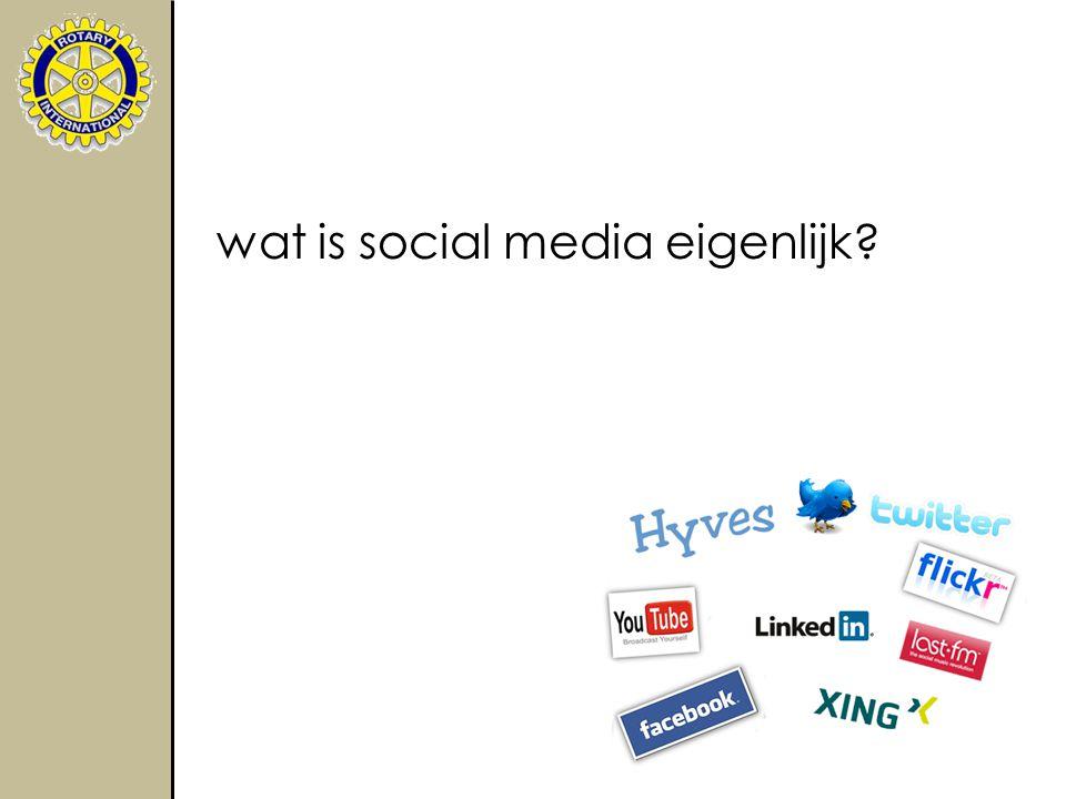 wat is social media eigenlijk