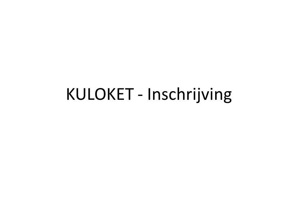 KULOKET - Inschrijving