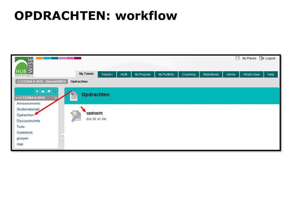 OPDRACHTEN: workflow