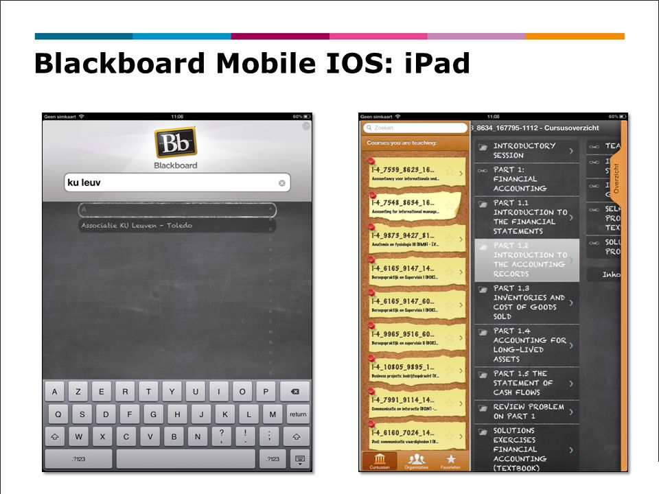 Blackboard Mobile IOS: iPad
