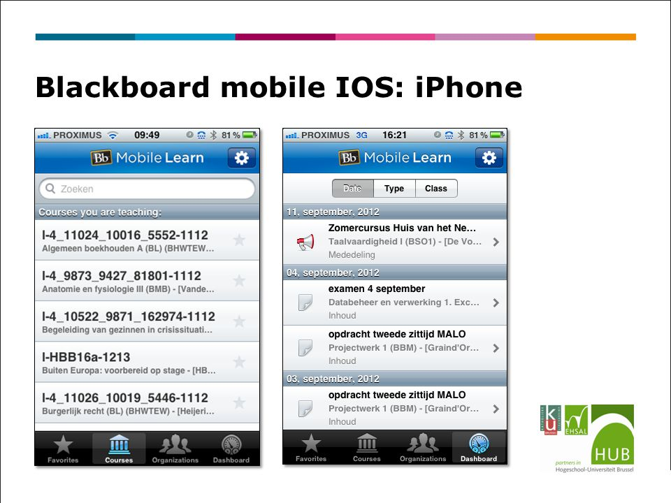 Blackboard mobile IOS: iPhone