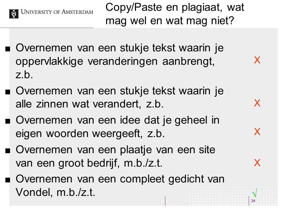 24 Copy/Paste en plagiaat, wat mag wel en wat mag niet.