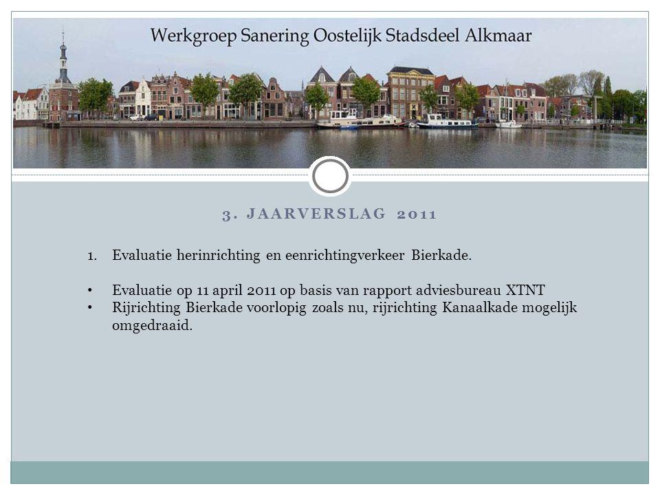 3.JAARVERSLAG 2011 1.Evaluatie herinrichting en eenrichtingverkeer Bierkade.