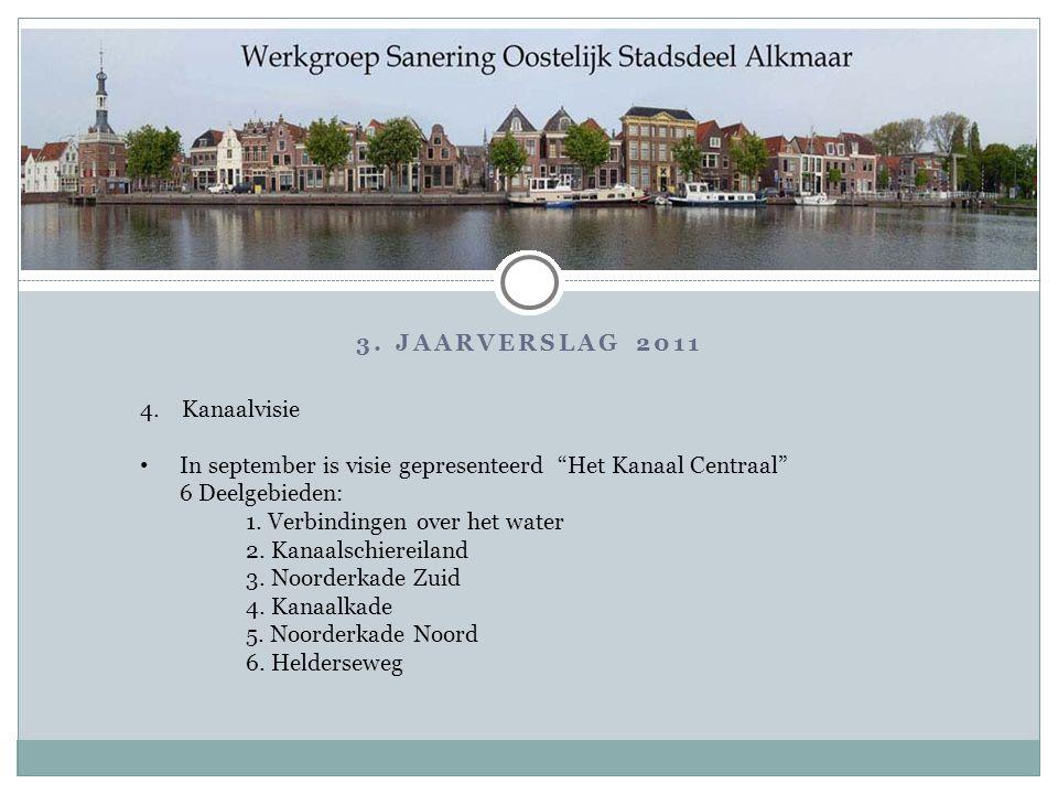 """3. JAARVERSLAG 2011 4. Kanaalvisie In september is visie gepresenteerd """"Het Kanaal Centraal"""" 6 Deelgebieden: 1. Verbindingen over het water 2. Kanaals"""