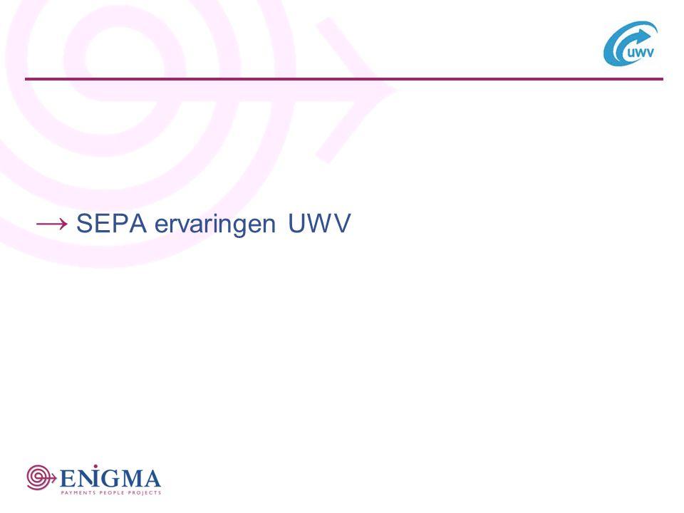 → SEPA ervaringen UWV