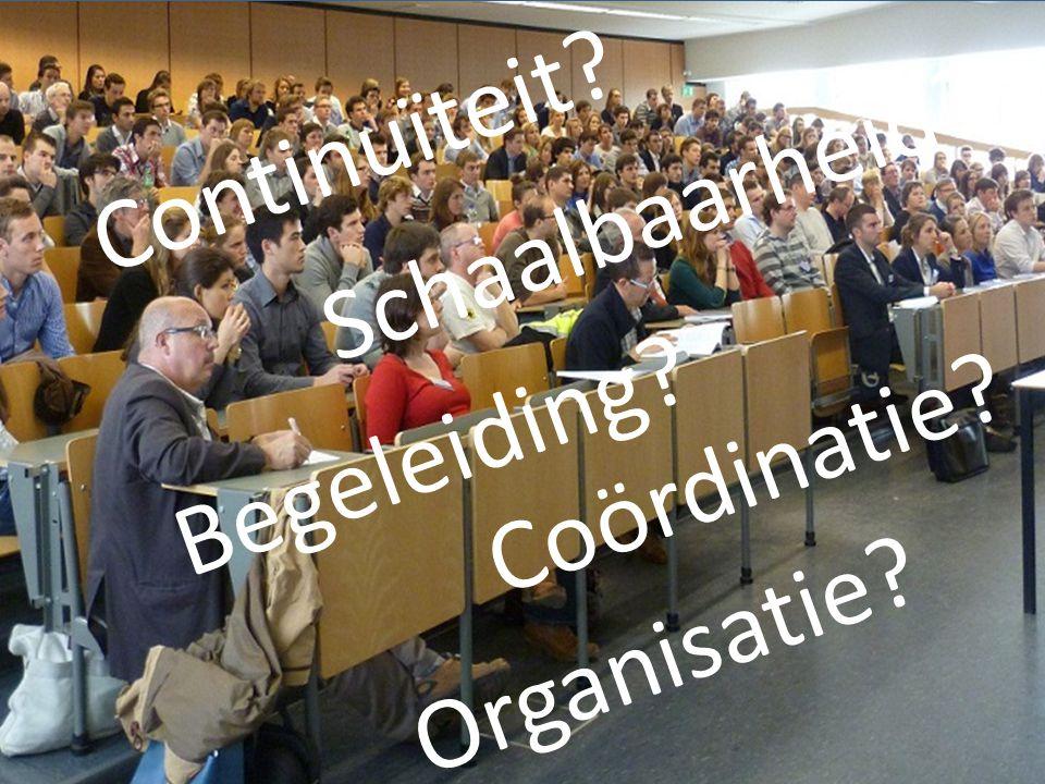 5 Schaalbaarheid? Begeleiding? Coördinatie? Continuïteit? Organisatie?