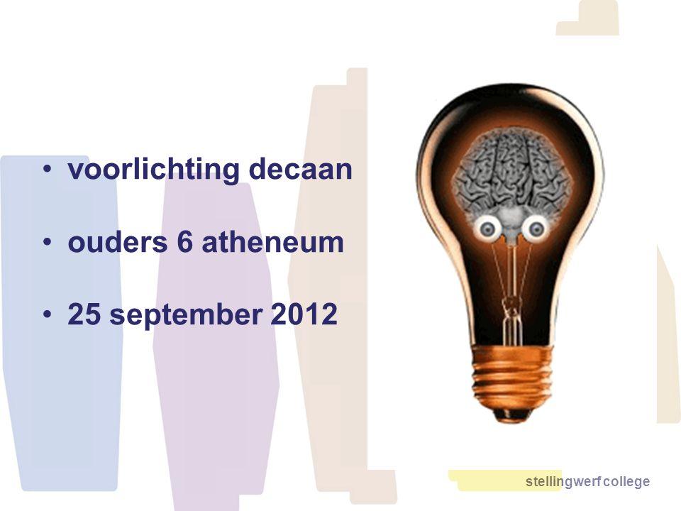 stellingwerf college voorlichting decaan ouders 6 atheneum 25 september 2012