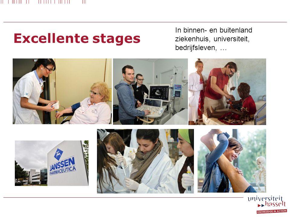 Excellente stages In binnen- en buitenland ziekenhuis, universiteit, bedrijfsleven, …