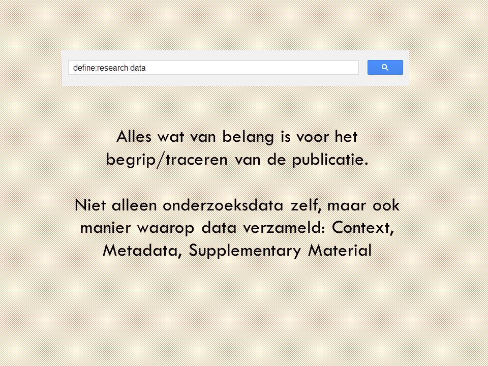 Research Data Portal http://www.narcis.nl/searchhints/Language/nl