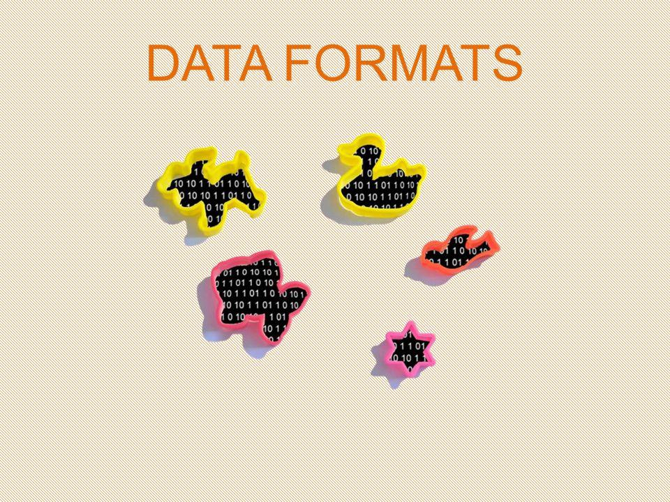 Een data formaat of bestandsformaat is de vorm waarin informatie gecodeerd is.