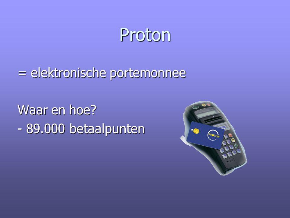 Proton = elektronische portemonnee Waar en hoe? - 89.000 betaalpunten