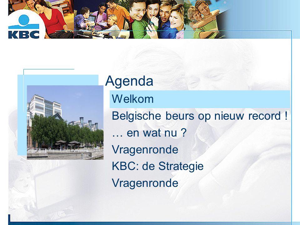 Foto gebouw Agenda Welkom Belgische beurs op nieuw record ! … en wat nu ? Vragenronde KBC: de Strategie Vragenronde
