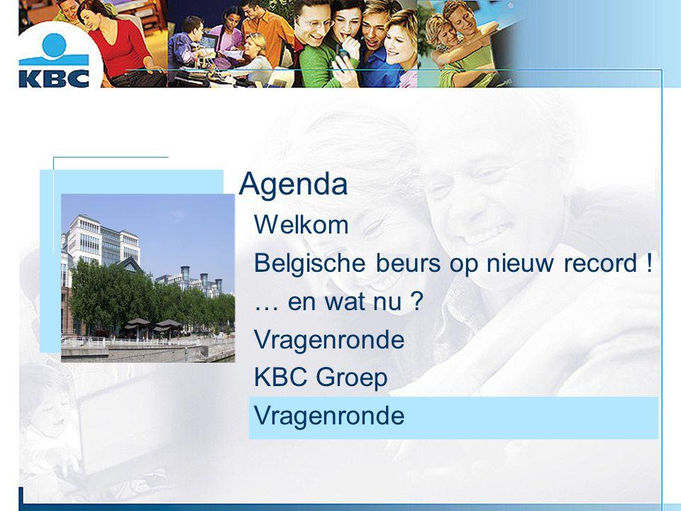 Foto gebouw Agenda Welkom Belgische beurs op nieuw record ! … en wat nu ? Vragenronde KBC Groep Vragenronde