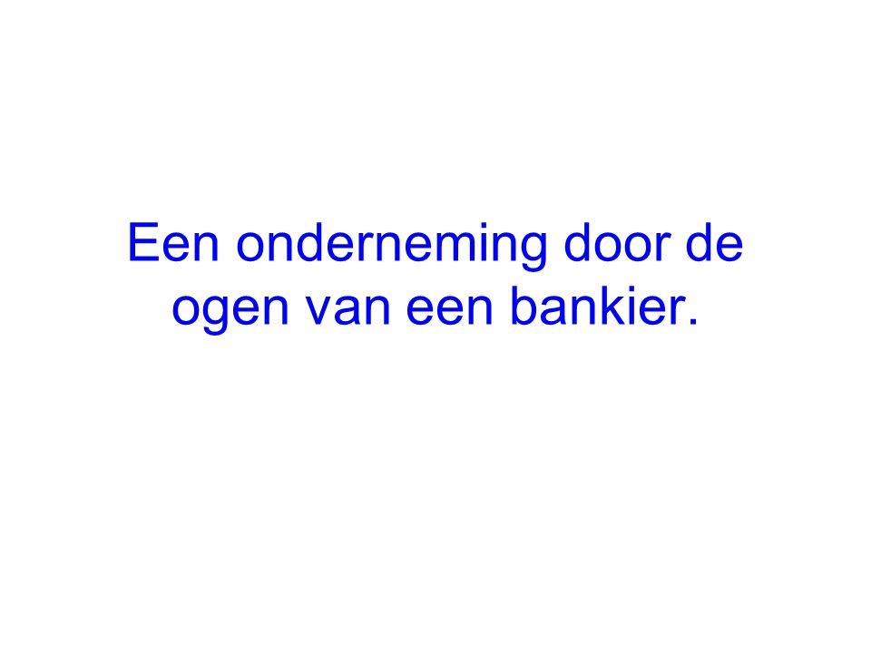 Een onderneming door de ogen van een bankier.