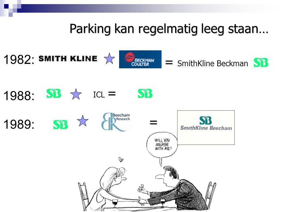 1982: 1988: = = SmithKline Beckman Parking kan regelmatig leeg staan… 1989: = ICL = =