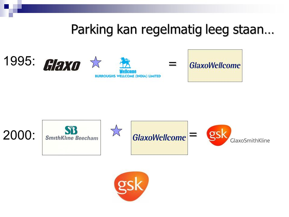 1995: 2000: = Parking kan regelmatig leeg staan… =