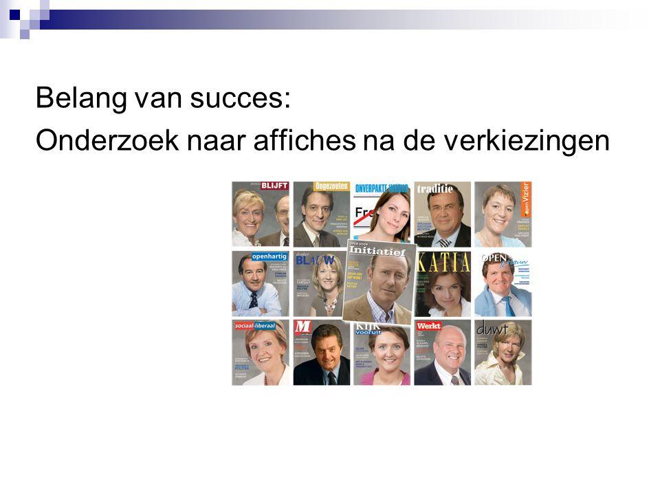 Belang van succes: Onderzoek naar affiches na de verkiezingen