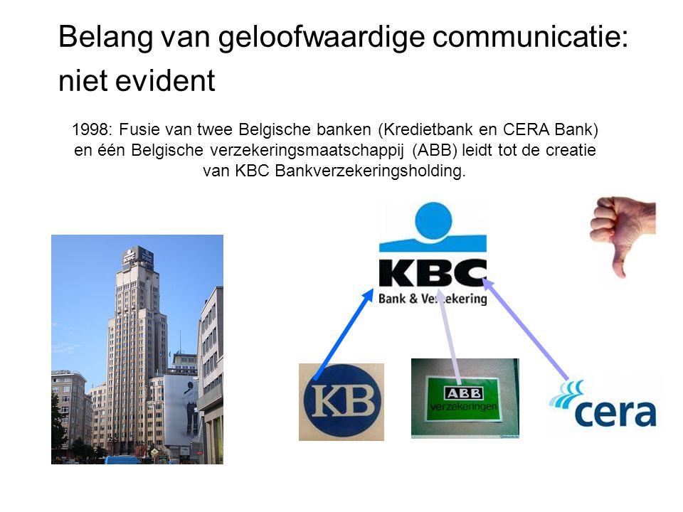 1998: Fusie van twee Belgische banken (Kredietbank en CERA Bank) en één Belgische verzekeringsmaatschappij (ABB) leidt tot de creatie van KBC Bankverz