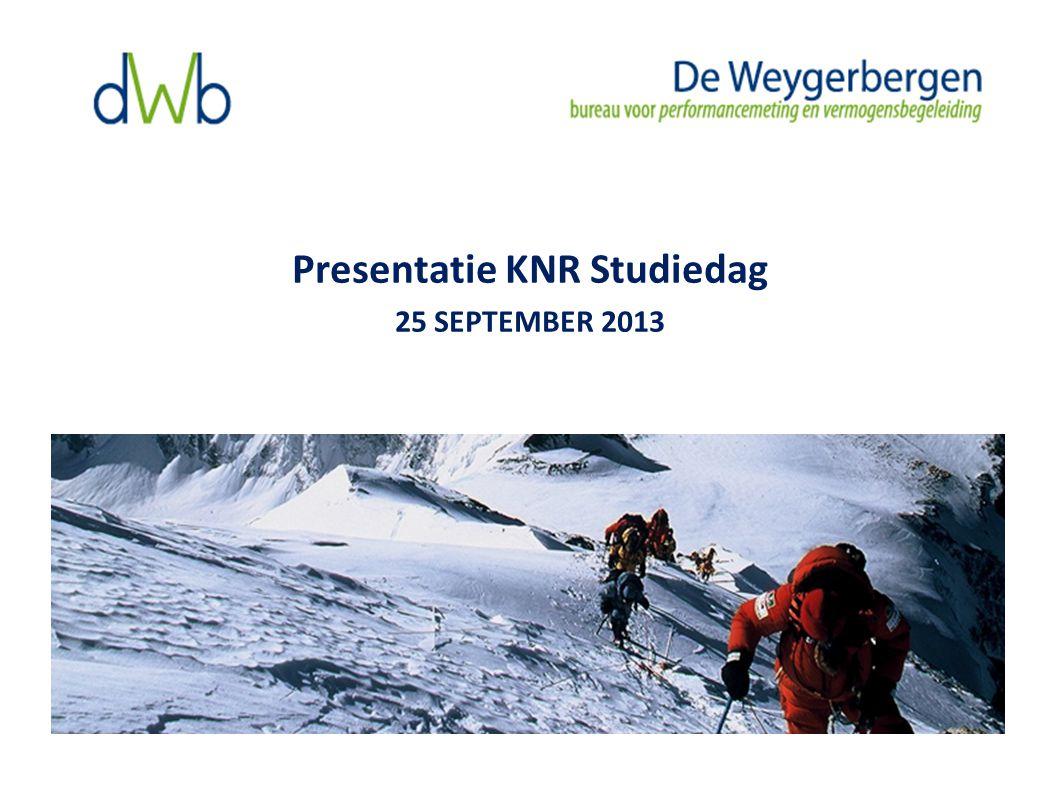 Presentatie KNR Studiedag 25 SEPTEMBER 2013