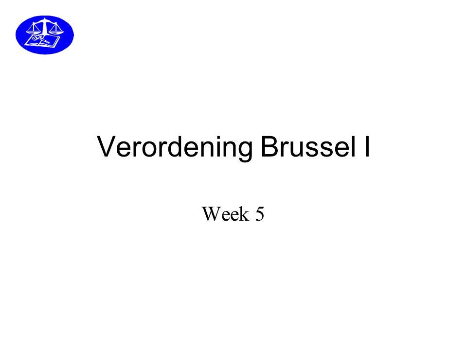 Verordening Brussel I Week 5