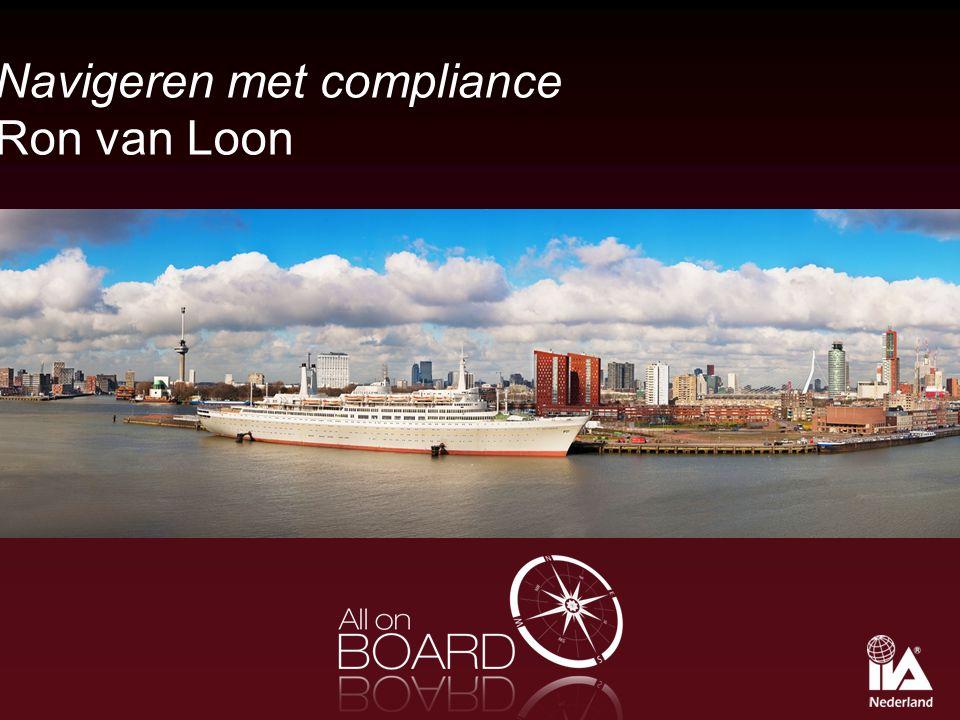Navigeren met compliance Ron van Loon