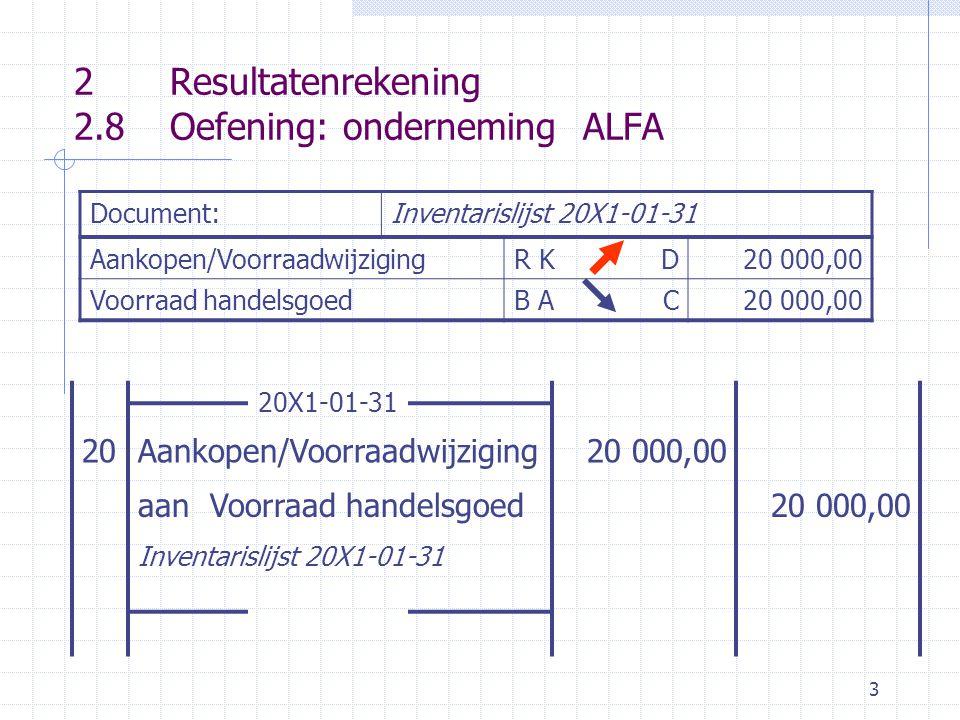 4 D Voorraad hg CD Kapitaal CD Lening bank C (1) 370 000,0020 000 (20)500 000,00 (1)300 000,00 (13) 370 000,00500 000,00,300 000,00, D Handelsdeb.