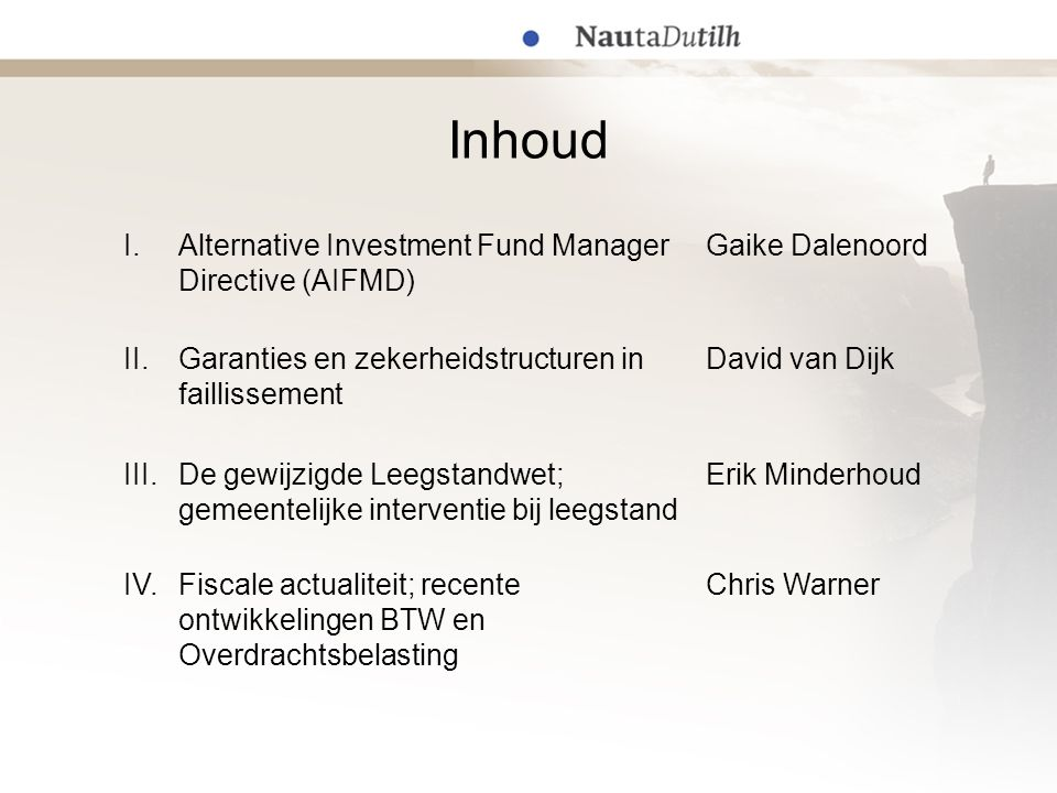 IV. Fiscale actualiteit Chris Warner