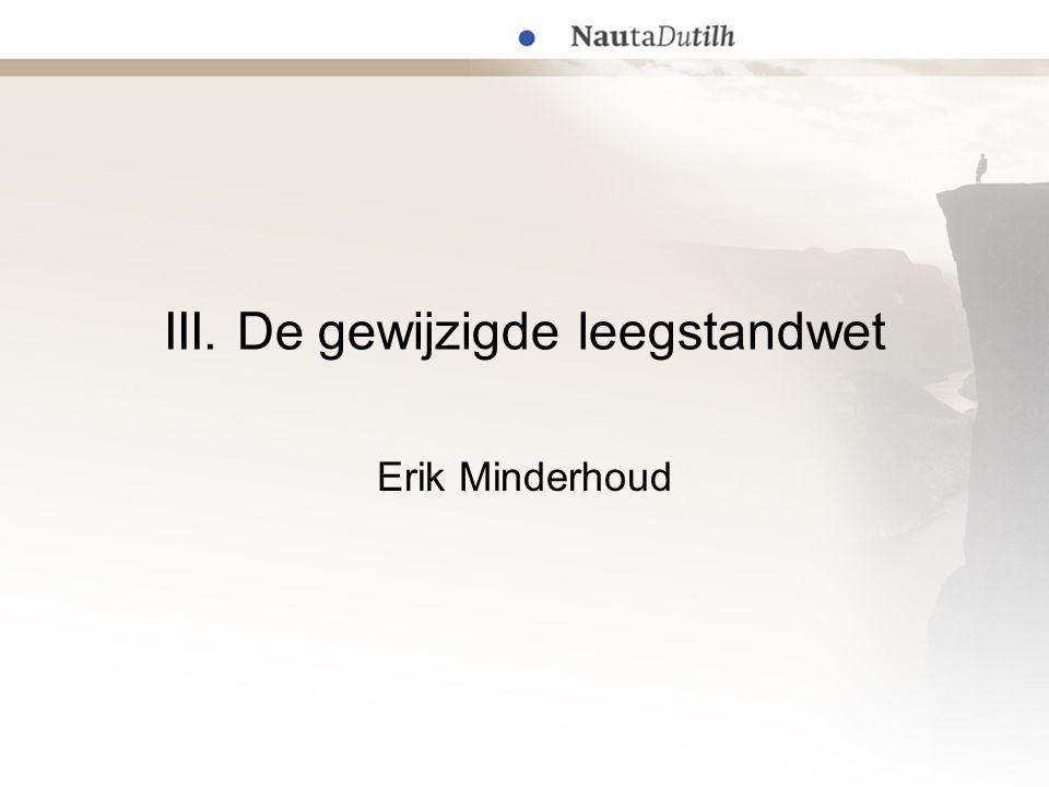 III. De gewijzigde leegstandwet Erik Minderhoud