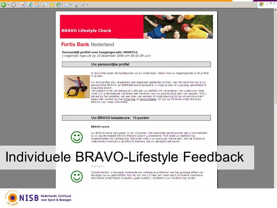 Individuele BRAVO-Lifestyle Feedback
