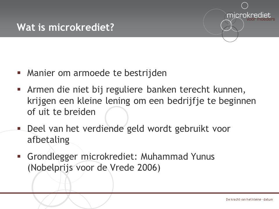 BANK 7 61 4 3 25 Hoe werkt microkrediet?