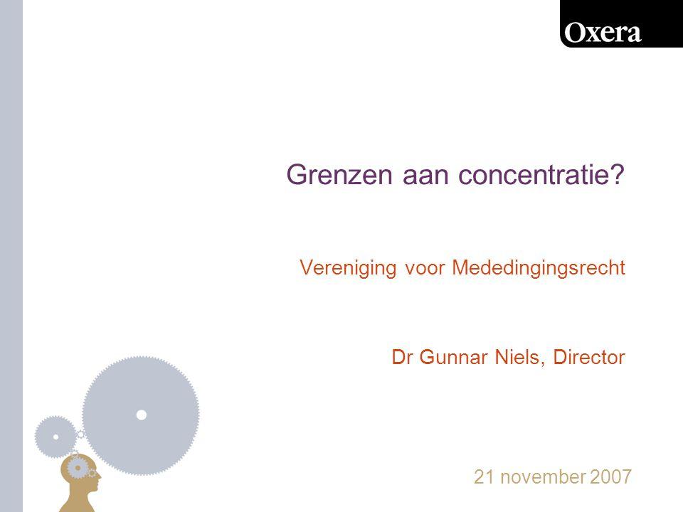21 november 200712 Conclusie -NMa relatief 'hands-off' -stilzwijgende coördinatie onderbelicht -er zijn grenzen…